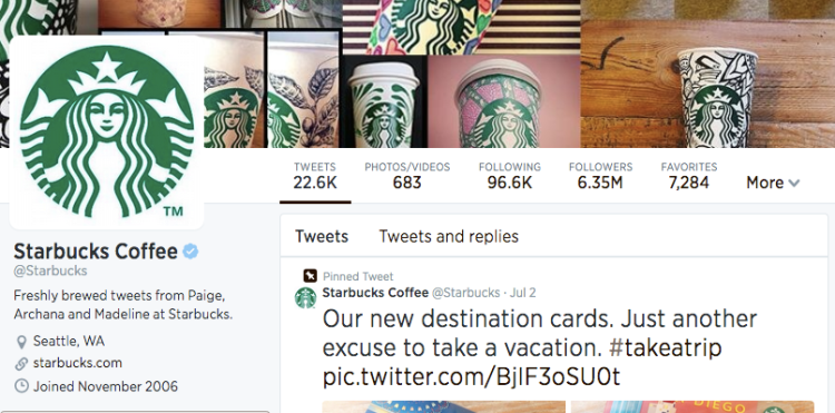 Starbucks Twitter Followers