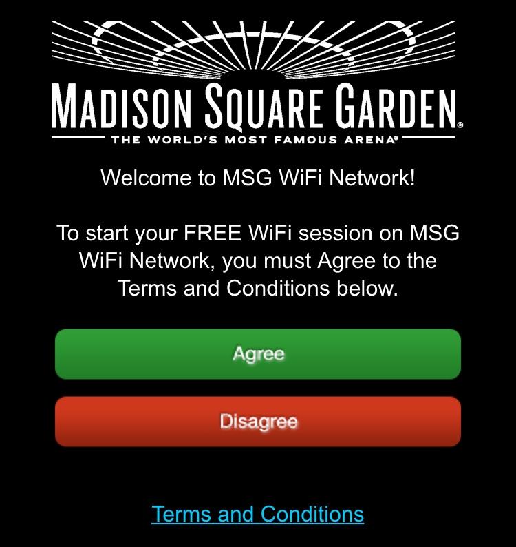 Madison Square Garden WiFI NYC